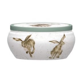 Royal Worcester Wrendale Good Hare Day Hare Boutique Candle Tin